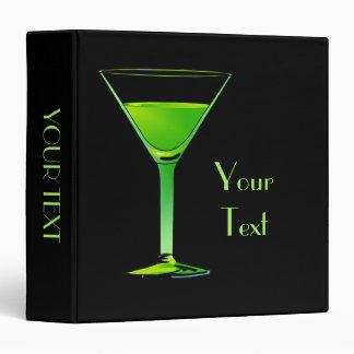 Green Martini Cocktail Binder
