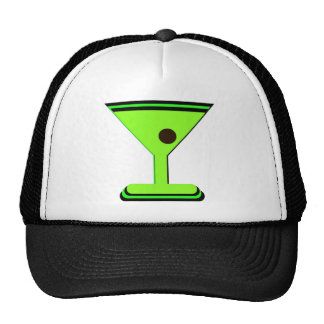 GREEN MARTINI GRAPHIC PRINT TRUCKER HAT