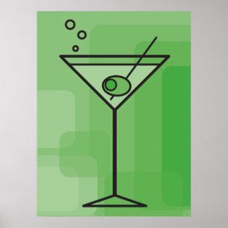 green martini poster