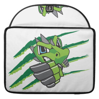 Green mascot design sleeve for MacBook pro