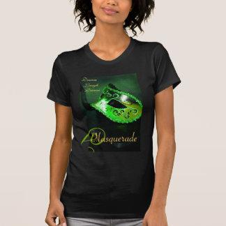 Green Masquerade Mask Ladies Halloween T-Shirt