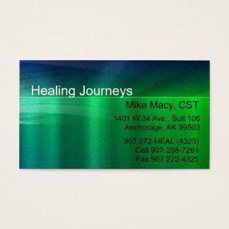 Green Matte Metallic Business Card Template
