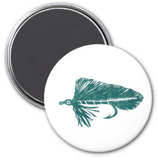 """Green Matuka Streamer"" Classic Trout Fly Magnet"