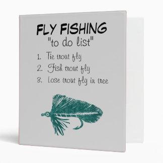 """Green Matuka-To Do List"" Fly Fishing Journal Binder"