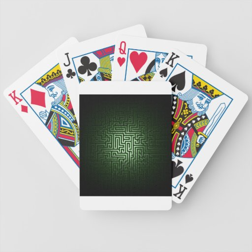 Green Maze Bicycle Poker Deck