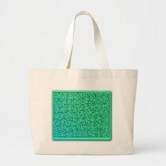 Green Maze Canvas Bags