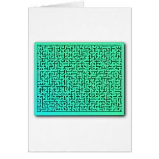 Green Maze Card