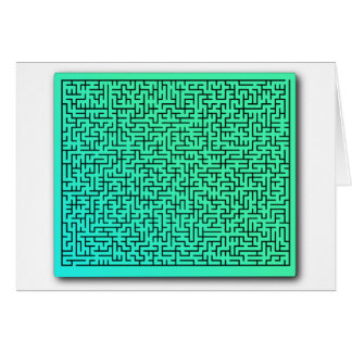 Green Maze Greeting Card