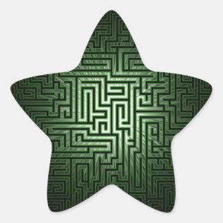 Green Maze Star Sticker