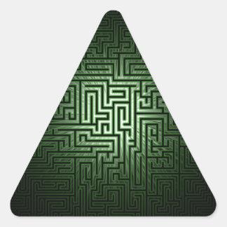 Green Maze Triangle Sticker