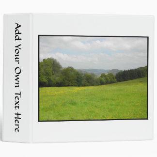 Green meadow. Countryside scenery. 3 Ring Binder