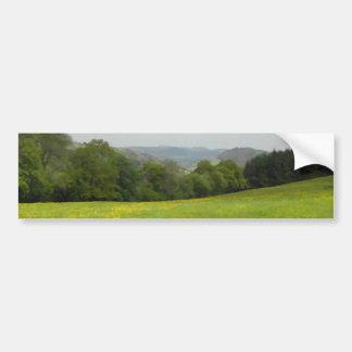 Green meadow. Countryside scenery. Car Bumper Sticker