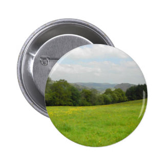 Green meadow. Countryside scenery. Buttons