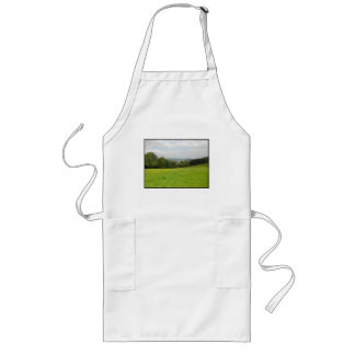 Green meadow. Countryside scenery. Long Apron