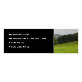 Green meadow. Countryside scenery. Mini Business Card