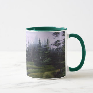 Green Meadow Falls Wrap Around Mug