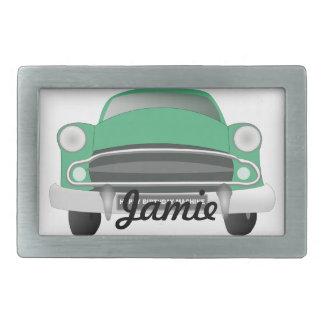 Green Mean Classic Car Rectangular Belt Buckle