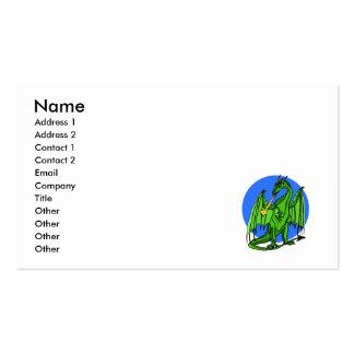 Green Mean Dragon Business Card