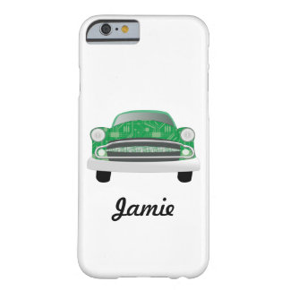 Green Mean Retro Car Boy's Birthday Barely There iPhone 6 Case