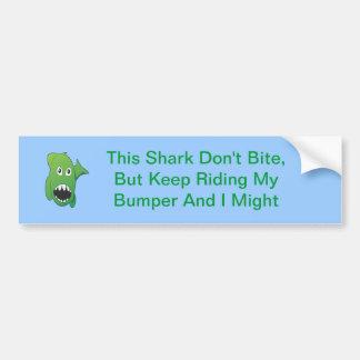Green Mean Shark Bumper Sticker
