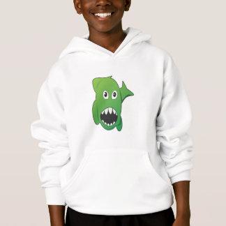 Green Mean Shark Hoodie