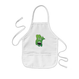 Green Mean Shark Kids' Apron