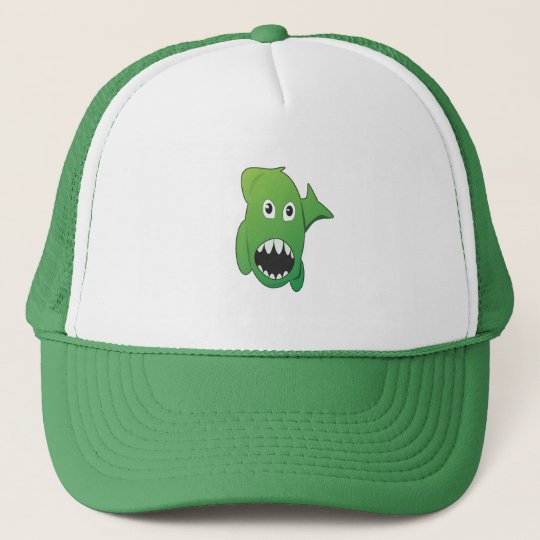 Green Mean Shark Trucker Hat