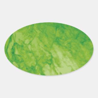 Green Meanie Oval Sticker