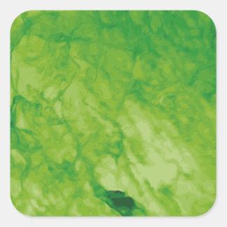 Green Meanie Square Sticker