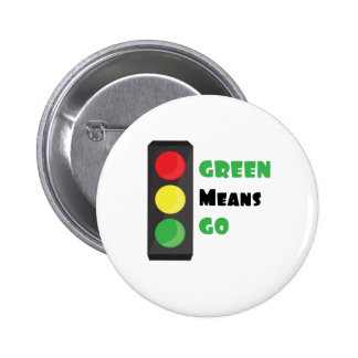 Green Means Go 2 Inch Round Button