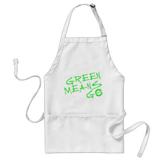 Green Means Go Adult Apron