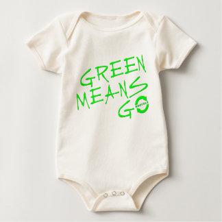 Green Means Go Baby Bodysuit