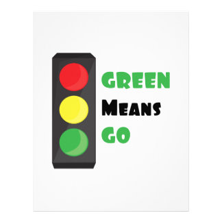 Green Means Go Letterhead Template