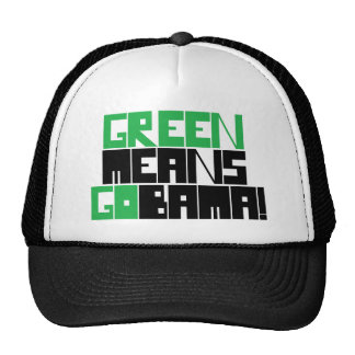GREEN MEANS GOBAMA MESH HAT