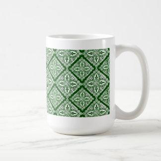Green Medallions coffee mug