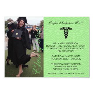 Green Medical RN School Graduation Announcement