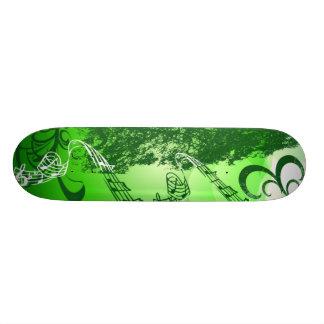 Green Melody Skateboard Deck