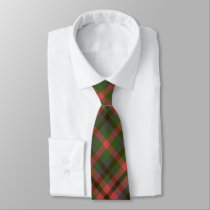 Green Melon Plaid Neck Tie