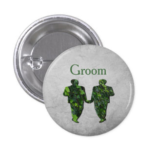 Green Men Ivy & Silver Gay Groom's Handfasting Pin