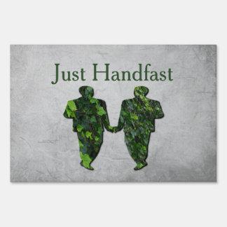 Green Men Ivy & Silver Gay Handfasting Yard Sign