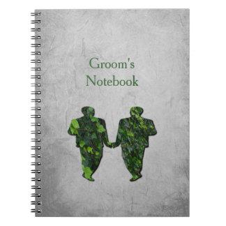Green Men Ivy & Silver Groom's Notebook