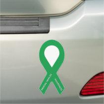 Green Mental Heatlh Awareness Ribbon Car Magnet