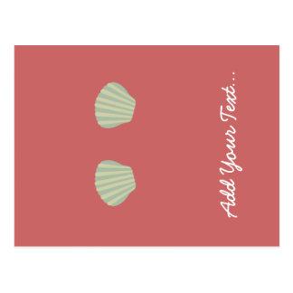 Green Mermaid Bikini Postcard