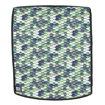 green mermaid skin pattern backpack