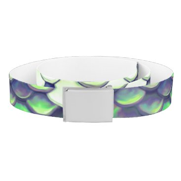 Beach Themed green mermaid skin pattern belt