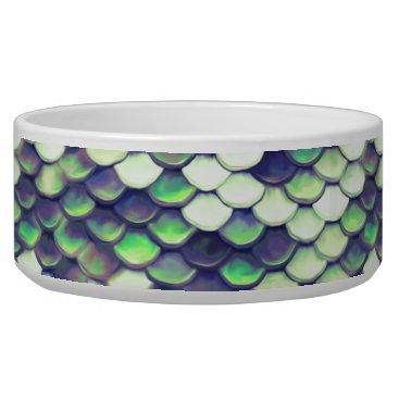 Beach Themed green mermaid skin pattern bowl