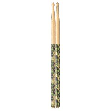 Beach Themed green mermaid skin pattern drumsticks