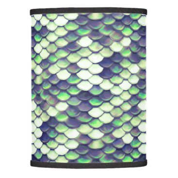 Beach Themed green mermaid skin pattern lamp shade