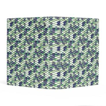 Beach Themed green mermaid skin pattern mini binder