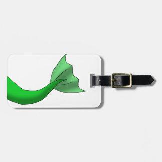 Green Mermaid Tail Bag Tags